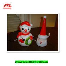 ICTI factory 3D vinyl plastic santa claus head ,santa claus led lights