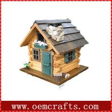 Countryside style handmade resin garden bird house