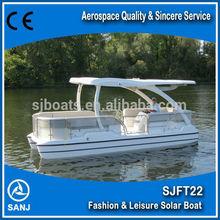 SANJ 2014 SJFT22 solar sightseeing pontoon boat sale