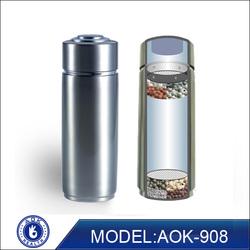 AOK new arrival 2 filters alkaline sport water bottle