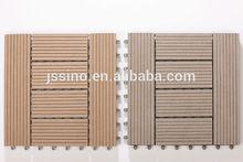 Non-slip wood composite decking tiles white, modular plastic floor tiles, interlocking removable floor tiles, plastic base tile
