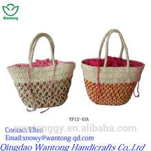 bright coloured corn hust women shopping bag