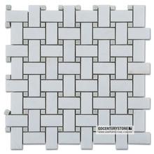 Dan White Mixed Ming Green Marble Floor Tile Mosaic For Bathroom