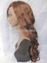 wholesale fashion 100% vingin hair u part curly wigs for black women