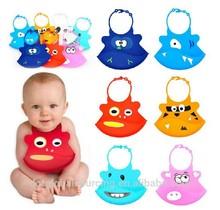 Silicone Baby Bib Infant Saliva Towels Baby Waterproof Bib Little Animal Shape