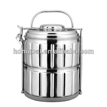 new products 2014 two layers stainless steel lunch box with handle