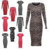 Womens Ladies Long & Cap Scoop Neck Sleeves Floral Tartan Stretch bodycon Midi Maxi celebrity Dress Plus Sizes 8-24 wholesale