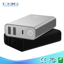 Double output LED light display portable power bank charger with CE, ROHS, FCC certificate for iphone, ipad, nokia, HTC