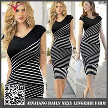 Newest fashion best quality beautiful mature women bandage dress