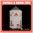 Hot sales miniature DIY wooden castle toys for children