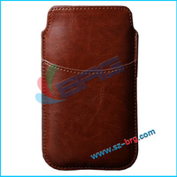 BRG- Wholesale leather mobile phone bag case for samsung galaxy s5 i9600