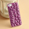 Excellent customer service hole leather flip case for iphone 5c
