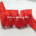 caliente rojo de accesorios de prendas de vestir adornos de encaje de la cinta de raso