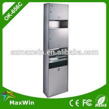 stainless steel wipe paper dispenser,Hand Dryer,Waste Bin Combination