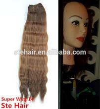 High feedback 100% human hair micro braids with synthetic hair