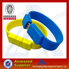 Charming PVC multifunction design custom usb silicon wristband at low price
