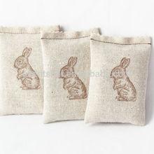 Lovely rabbit embroidery linen lavender/potpourri scents freshener your room