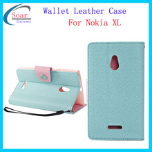 for Nokia XL Colorful button leather case