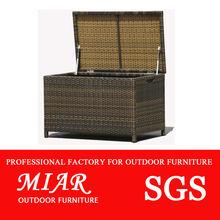 Outdoor furniture rattan storage box 702159