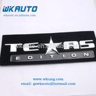 high quality abs sliver chrome TEXAS edition car badges