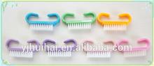 Popular OX horn nail brush with colorful handle/acrylic art nail brushes/animal-shaped nail brush