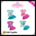 2104 nuovo stile caldo vendita bambino ragazze abito manica corta congelati costume