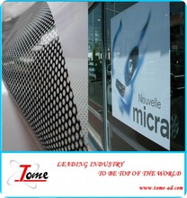 One way vision window vinyl decal tint,one side vision advertising decals,reflective one way vision film