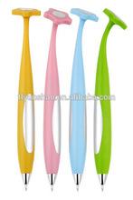 Color flower plastic cute ball pen for kids