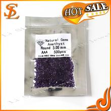 3.0mm natural gems ,hot sale Amethyst natural gems ,natural crystal