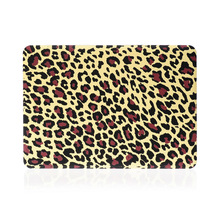 Newest model UV coating leopard 15.4'' inch water paste injection hard PC shell cover case for Mac Book 15.4'' Air