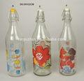 venda quente bonito colorido de vidro frascos de óleo e vinagre
