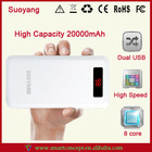 2014 News!!! USB Universal Smart Portable Power Bank 20000mAh Charger Tablet PC / Mobile Phone / MP3 / GPS Made In China