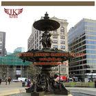Large square landscape bronze fountain sculpture