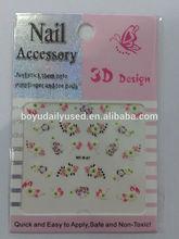 2014 new design fashion 3D nail art stickers
