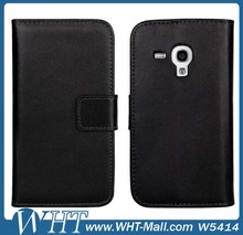 High Quality Leather Flip Wallet Case for Samsung Galaxy S3 mini i8190 Mobile Phone Case