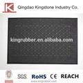 Anti- Rutsch bodenbelag eingang teppich, 100% polyester beflockung Stil mit PVC/gummi zurück