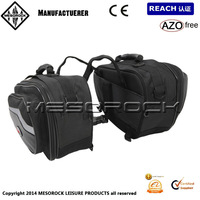 Black Motobike Motorcycle Bags Luggage Expandable Panniers Saddle Bags Luggage