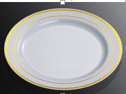 PA-04 Plain Disposable Plastic Plate