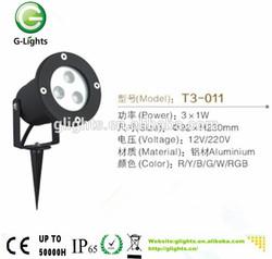 led light garden spot lights 3w IP65