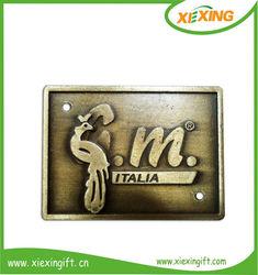 Custom metal antique copper embossed nameplates