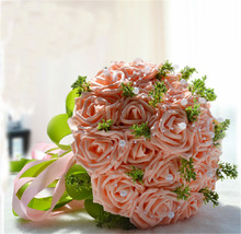 Red Bridal artificial flower wedding banquet wedding decoration