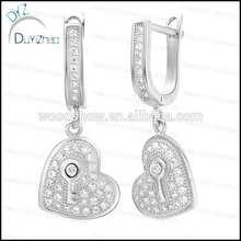 heart gold filled hoop earrings