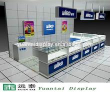 modern glass display case/showcase cell phone showroom design