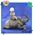 sgb220 sentado no elefante de resina figuras de buda
