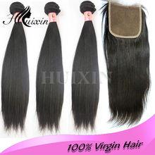 Unprocessed brazilian hair 100% natural brazilian hair pieces