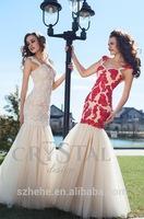 JM.Bridals CY2802 Popular Mermaid Appliques Spaghetti straps Tulle 2014 fantasy prom dresses