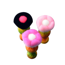 flower top sale kabuki brush pink color kubuki make up brush powder brush