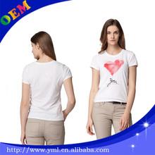 100 cotton women casual t shirts plain color printing factory