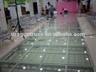 indoor hall glass stage wedding decor