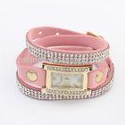 2014 New Design Multilayer Leather Bracelet Watch for Lovers